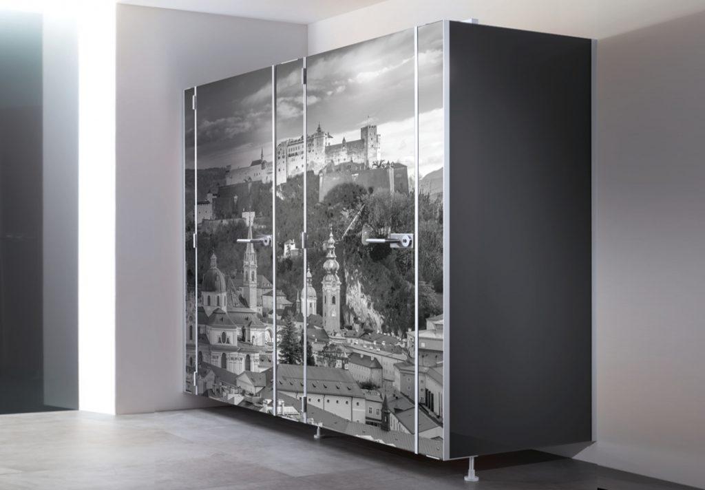 WC-GlasKabine mit individuellem Fotodruck