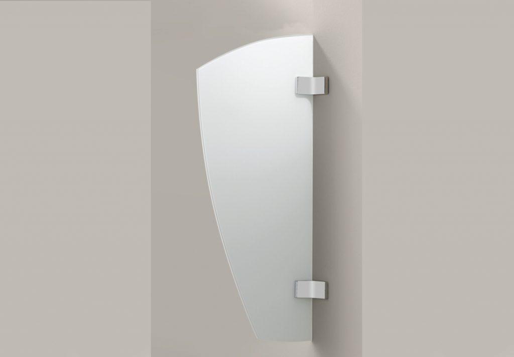 WC-Glaskabine und Sichtschutzwand aus Glas